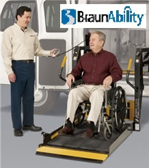 Handicap Vans, Disability Buses, Wheelchair Access Vehicle Conversion Products - BRAUN COMMERCIAL WHEELCHAIR LIFTS