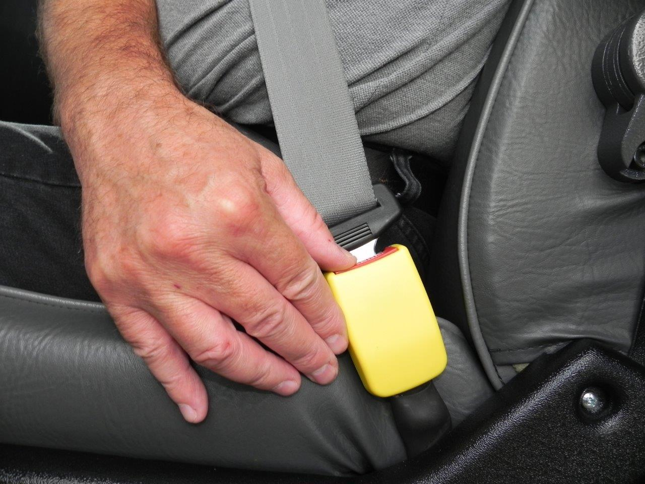 Handicap Vans, Disability Buses, Wheelchair Access Vehicle Conversion Products - STAY-PUT Seat Belt Buckle System