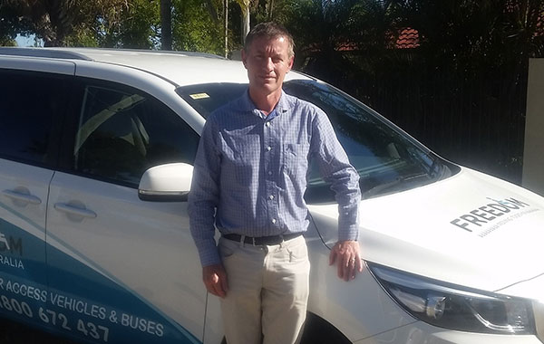 An image of one of our helpful Wheelchair lift and Van modification sales manager James Hawker. Contact Freedom Access Vehicles Victoria today to see how we can accommodate for all your disability van modification needs.
