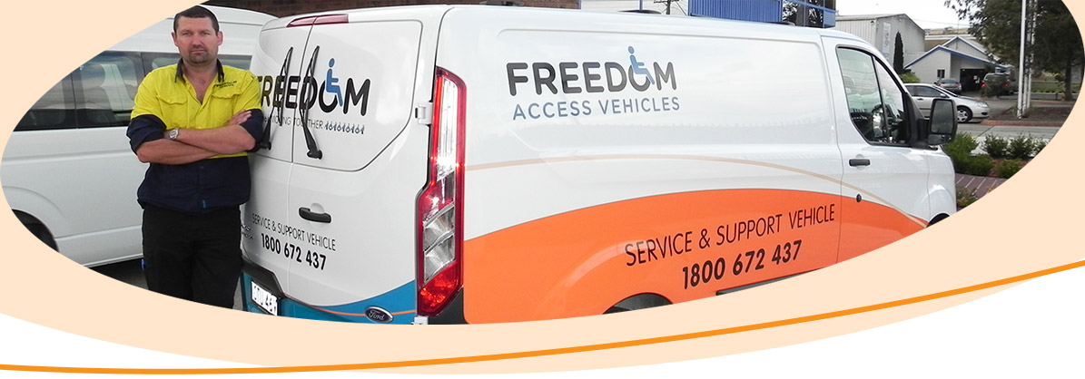 Freedom Access Vehicles service and support van